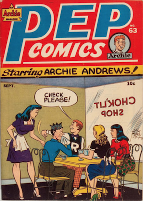 Pep Comics #63. Click for current values.