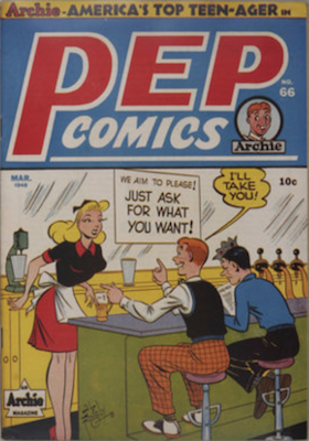Pep Comics #66. Click for current values.