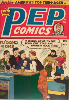 Pep Comics #67. Click for current values.