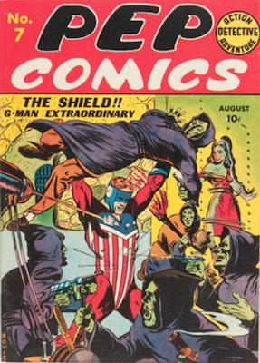 Pep Comics #7. Click for current values.