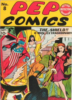 Pep Comics #8. Click for current values.