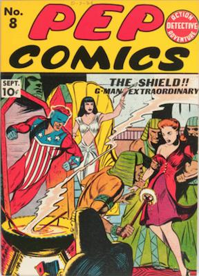 Pep Comics #8. Click for current values.