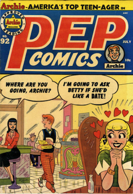 Pep Comics #92. Click for current values.