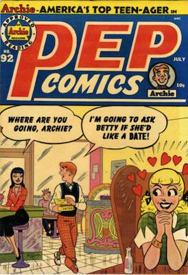 Pep Comics #92. Click for current values.