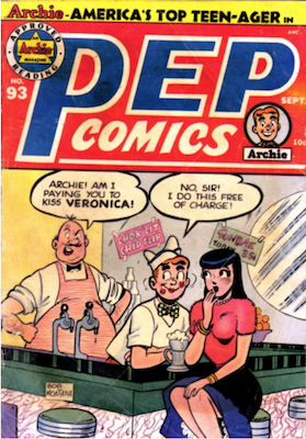 Pep Comics #93. Click for current values.