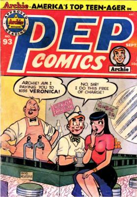 Pep Comics #93. Click for current values.