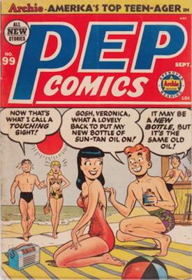 Pep Comics #99. Click for current values.