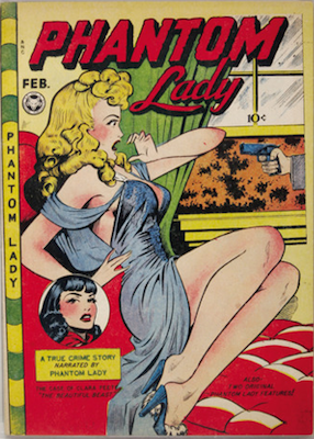 Phantom Lady #16, very sexy Matt Baker cover. Click for values