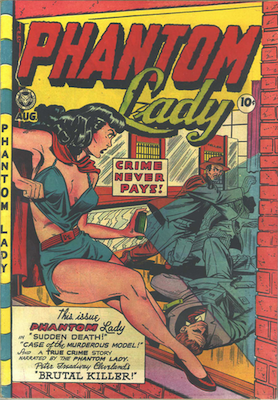 Phantom Lady #19, Baker cover art. Click for values