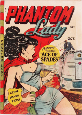 Phantom Lady #20, classic Baker cover art. Click for values