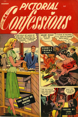 Pictorial Confessions #3, cover art by Baker. Click for values