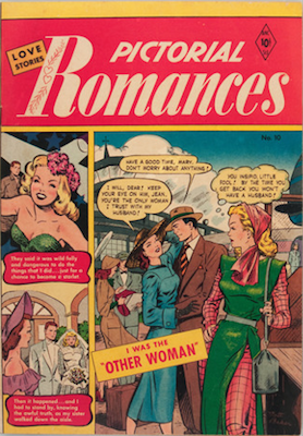 Pictorial Romances #10 comic book. Click for values
