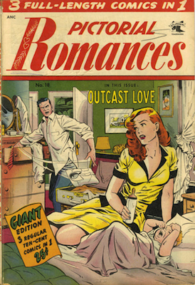 Pictorial Romances #18: classic Matt Baker cover. Click for values