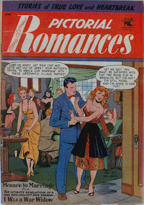 Pictorial Romances #23: Baker cover. Click for value