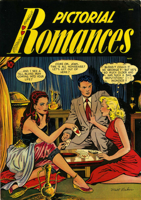 Pictorial Romances #7: Matt Baker cover. Click for values