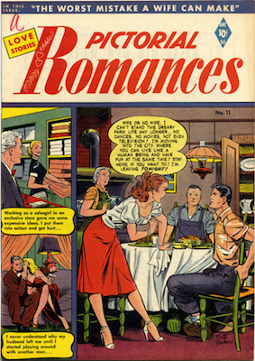 Pictorial Romances #11: Matt Baker. Click for values