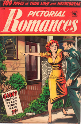 Pictorial Romances #20: Matt Baker cover. Click for values