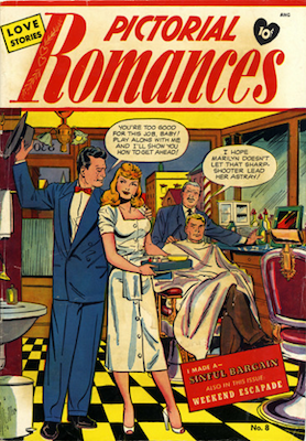 Pictorial Romances #8, Matt Baker cover art. Click for values