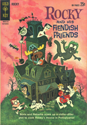 Rocky and his Fiendish Friends #1 (1962), Gold Key. Click for values