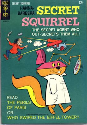 Secret Squirrel #1 (1966), Gold Key. Click for values
