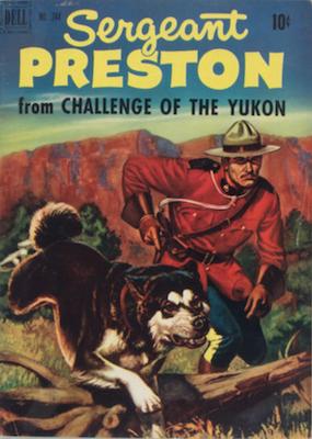 Sergeant Preston of the Yukon: Four Color #344. Dell. Click for values