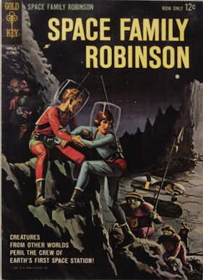 Space Family Robinson Lost in Space #1 (1962), Gold Key. Click for values