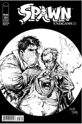Spawn #193 (B&W cover). Click for values.