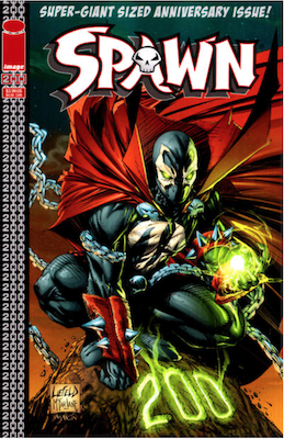 Spawn #200 (Liefeld). Click for values.