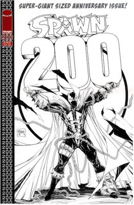 Spawn #200 (McFarlane B&W). Click for values.