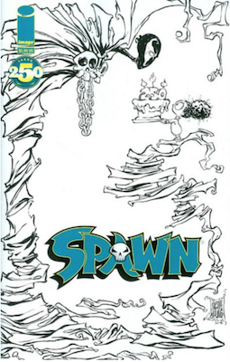 Spawn #250 (Young B&W). Click for values.