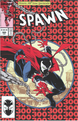 Spawn #300 (Cover J). Click for values.
