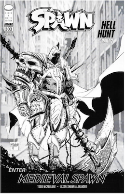 Spawn #303 (Cover Click for values.). Click for values.