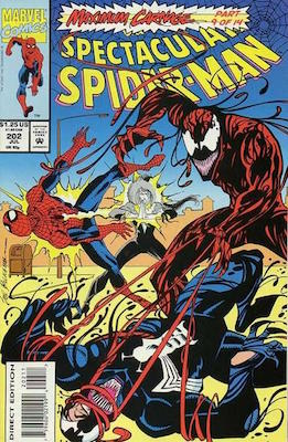 Spectacular Spider-Man #202: Carnage. Click for values