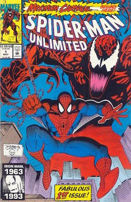 Spider-Man Unlimited (1995) #1: Carnage appearance. Click for values