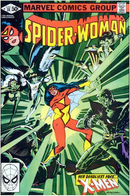 Spider-Woman #38. Click for values.