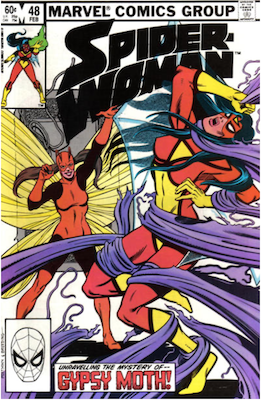 Spider-Woman #48. Click for values.