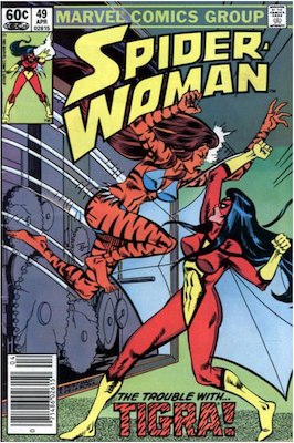 Spider-Woman #49. Click for values.