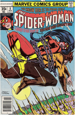 Spider-Woman #8. Click for values.
