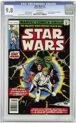 Star Wars #1 in CGC 9.8 looks great, but is a common issue. Silver Surfer #1 is just as important, earlier and rarer in high grade.