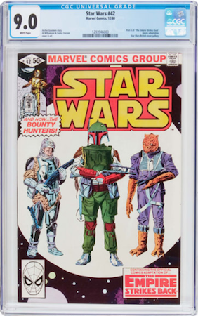 Star Wars #42 CGC 9.0, direct edition (Spider-Man head at bottom left). Click to buy a copy