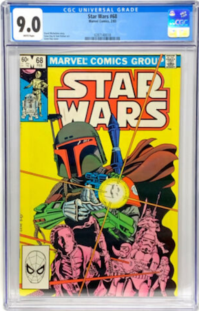 Star Wars #68 CGC 9.0, direct edition (Spider-Man head at bottom left). Click to buy a copy