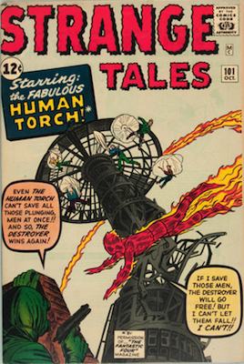 KEY ISSUE! Strange Tales #101, First Solo Human Torch Story Since 1956. Click for values