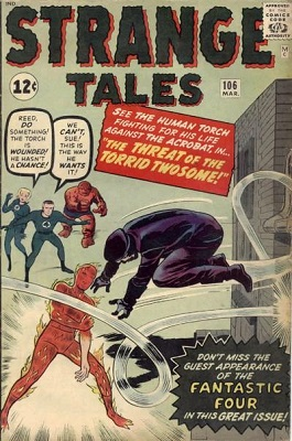 Strange Tales #106: first appearance of the Acrobat. Click for values
