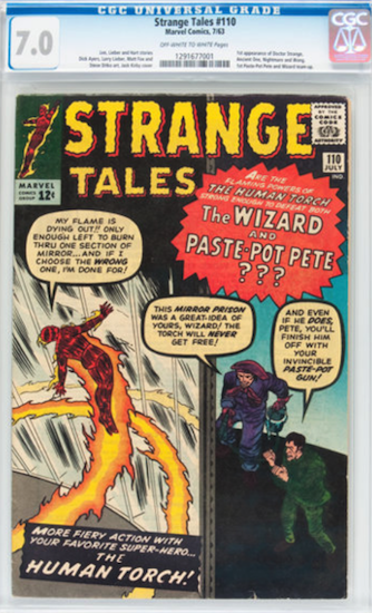 Wouldn't You Rather Own... Strange Tales #110 CGC 7.0?