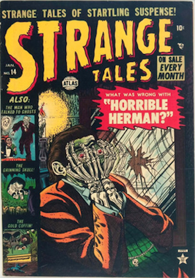 Strange Tales #14 precode horror comic. Click for values