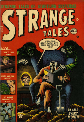 Strange Tales #15: headless cover. Click for values
