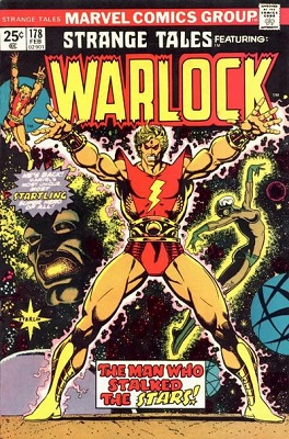 Strange Tales #178: First Adam Warlock story. Click for values