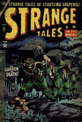 Strange Tales 27, classic pre-hero comic. Click for values