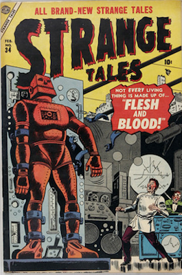 Strange Tales 34: last precode horror issue. Click for value