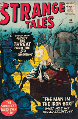 Strange Tales 69: Professor X Prototype issue. Click for value